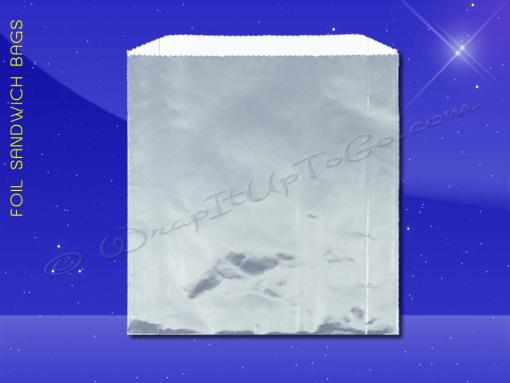 Foil Sandwich Bags – 6 x 3/4 x 6-1/2 – Plain 1