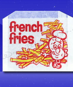French Fry Bags – 5-1/2 x 1 x 4 – Printed French Fries 1