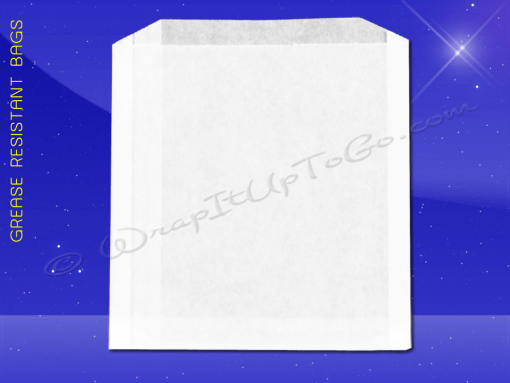 Grease Resistant Sandwich Bags – 6 x 3/4 x 6-1/2 – Plain 1