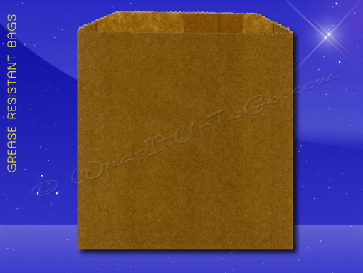 Grease Resistant Sandwich Bags – 6 x 3/4 x 6-1/2 – Natural Kraft (brown) 1