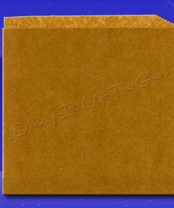 Grease Resistant Sandwich Bags – Double Opening – 7 x 6-3/4 – Natural Kraft (brown) – Plain 1