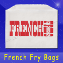 Fischer Paper Products 601-FF3 French Fry Bags 4-1/2 x 3-1/2 Printed French Fries