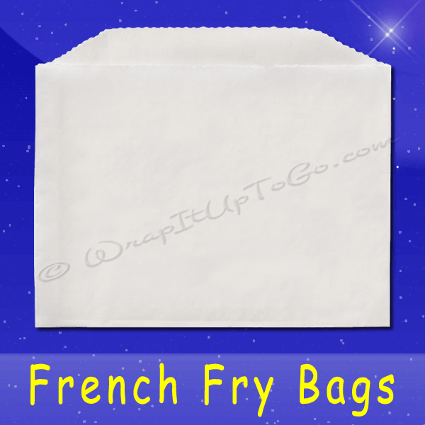 Fischer Paper Products 602-FF2 French Fry Bags 4-1/2 x 3-1/2 Plain