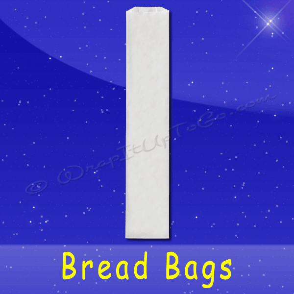 Fischer Paper Products BB-28 Bread Bags 4-1/2 x 2-1/2 x 28 Plain