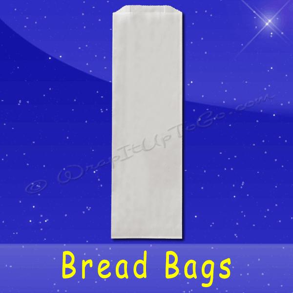 Fischer Paper Products BB-35-PL Bread Bags 4-1/2 x 2-1/2 x 24 Plain