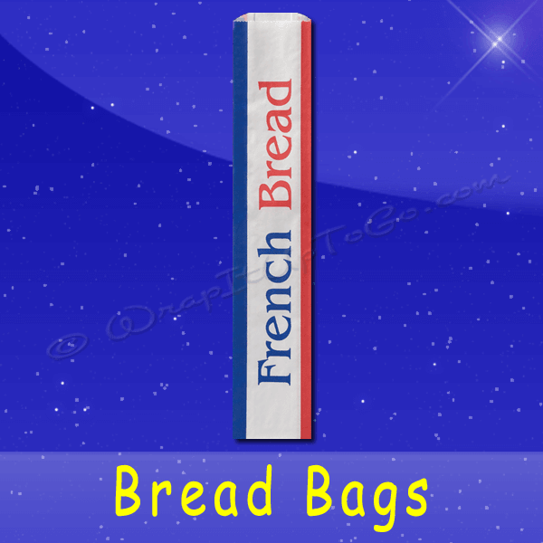 Fischer Paper Products BB-37 Bread Bags 4-1/2 x 2-1/2 x 28 Printed French Bread