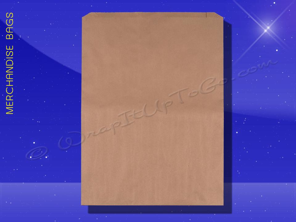 Fischer Paper Products 1712 Merchandise Bags Natural Kraft 17 x 4 x 24 Plain