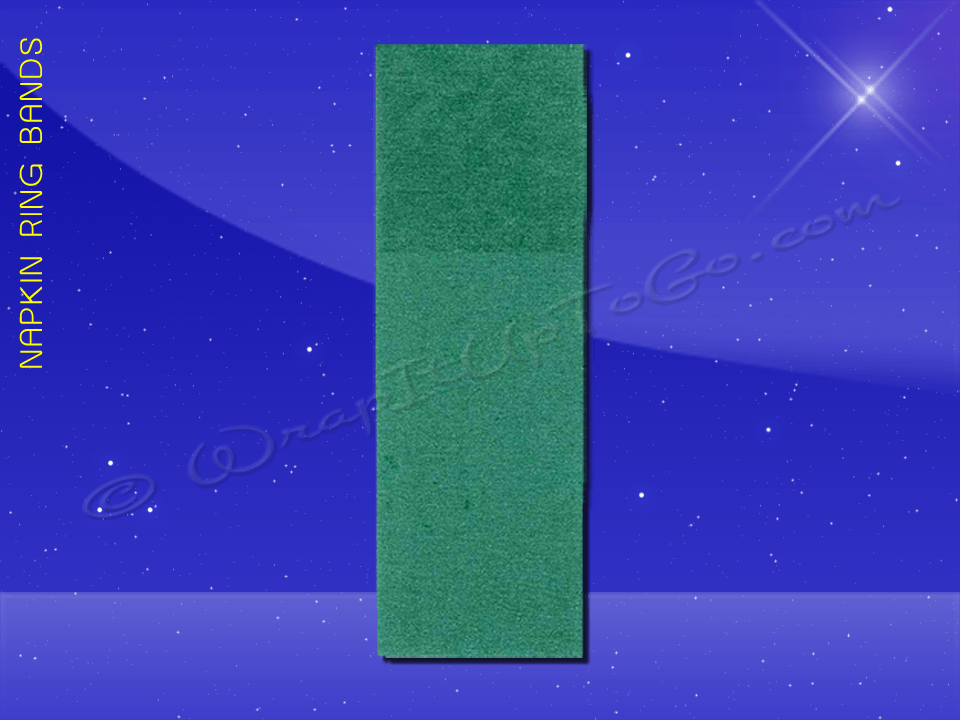 Fischer Paper Products 41707 Napkin Ring Band 1-1/2 x 4-1/2 Green