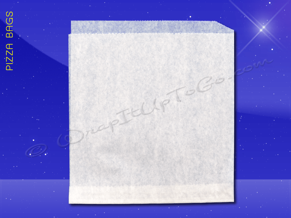 Fischer Paper Products 1014-PL Pizza Slice Bags 8-3/8 x 9 Double Opening Plain