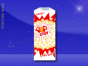 Fischer Paper Products 332 Popcorn Bags 4 x 2-1/2 x 8-1/4 Printed