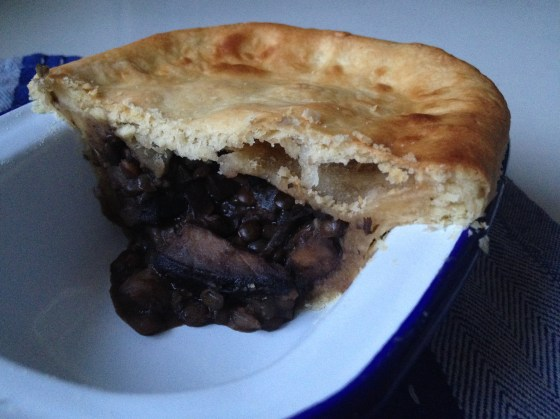 mushroom and ale pie