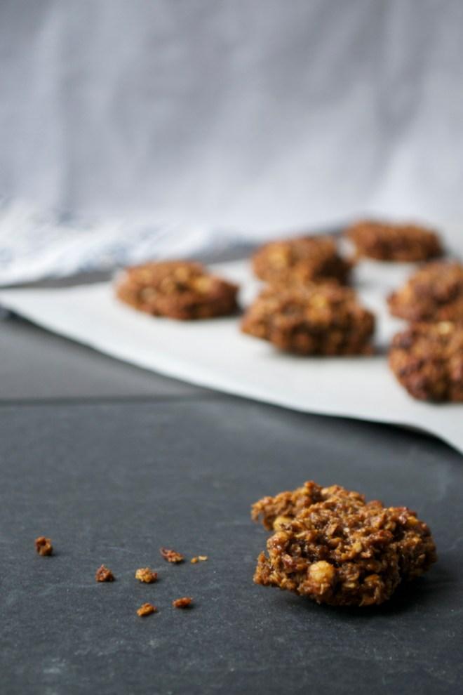 vegan ginger and peanut cookies