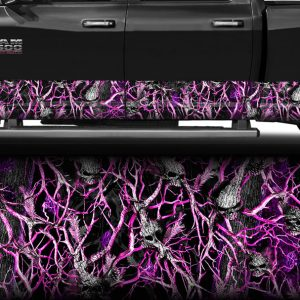 Pink Skull Obliteration Camo Rocker Panel Wrap