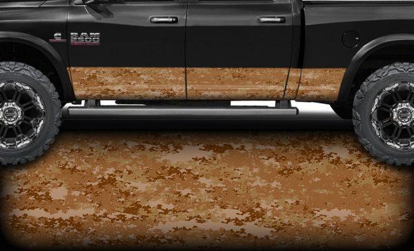 Desert Digital Camo Rocker Panel Wrap