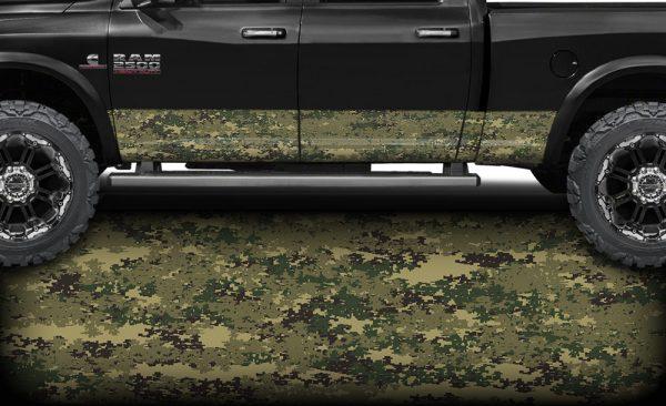 Marine Digital Camo Rocker Panel Wrap