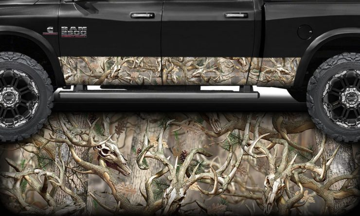 Obliteration Buck Camo Rocker Panel Wrap