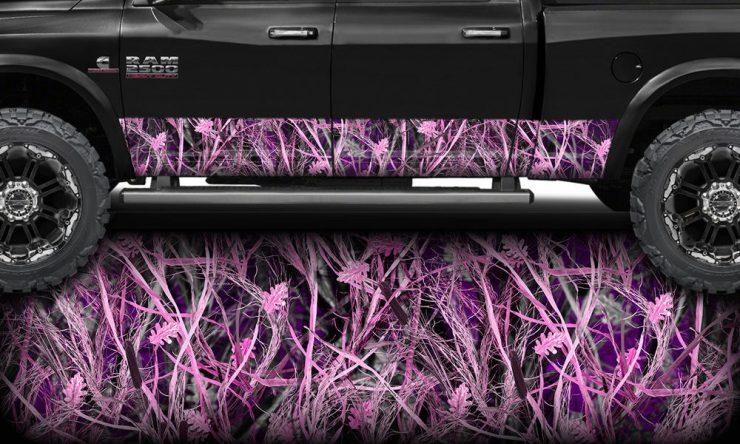 Tallgrass Pink Camo Rocker Panel Wrap