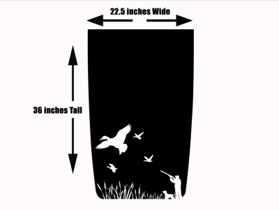 Duck Hunting 2 Jeep Hood Blackout Die Cut Decal