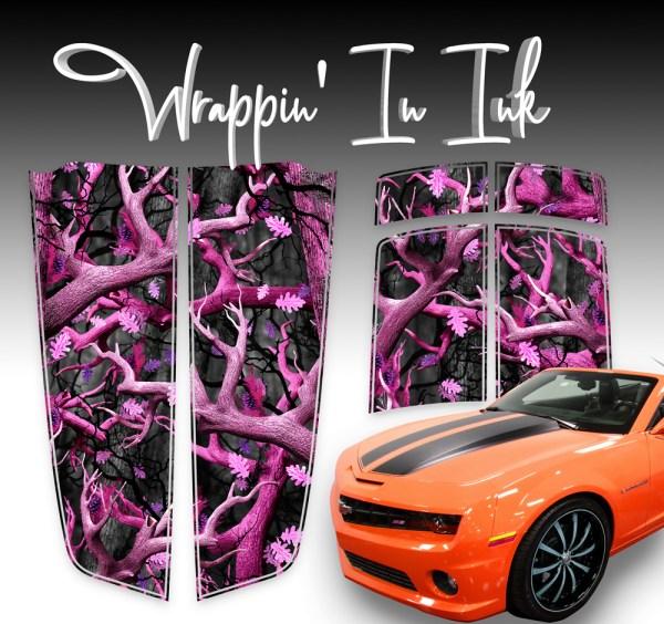 Pink Obliteration Camo for 2010-2015 Camaro