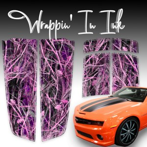 Pink Camaro Stripes Pink Tall Grass for 2010-2015 Camaro