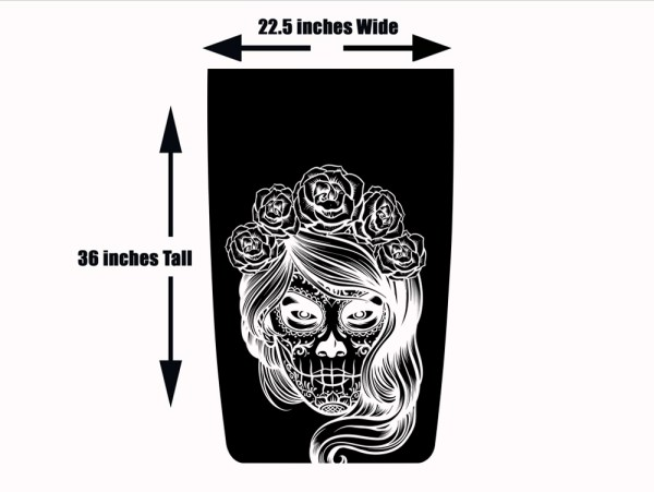 Blackout Hood Decal for Jeep Wrangler Day of the Dead