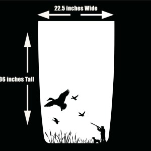 Duck Hunter with Dog Hood Decal for Jeep Wrangler