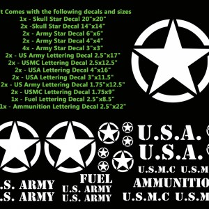 Military Decals for your Jeep or other vehicle