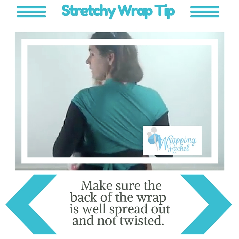 Make sure the wrap is well spread out