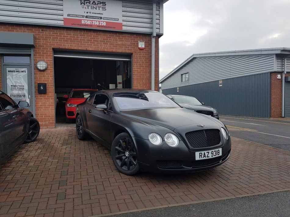 Satin Black Bentley Continental, full colour change