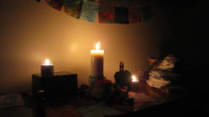 candles during labor