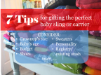 7 tips for gifting the perfect baby sling or carrier