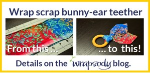 Wrap scrap bunny ear teether: Tutorial