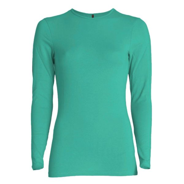 Long Sleeve Layering Top (Bright Teal) – Wrapunzel