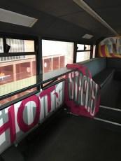 repainted bus interior
