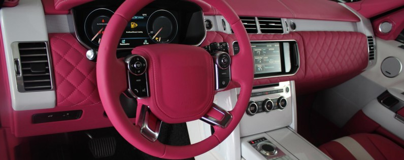 pink-range-rover-reupholstery-machester