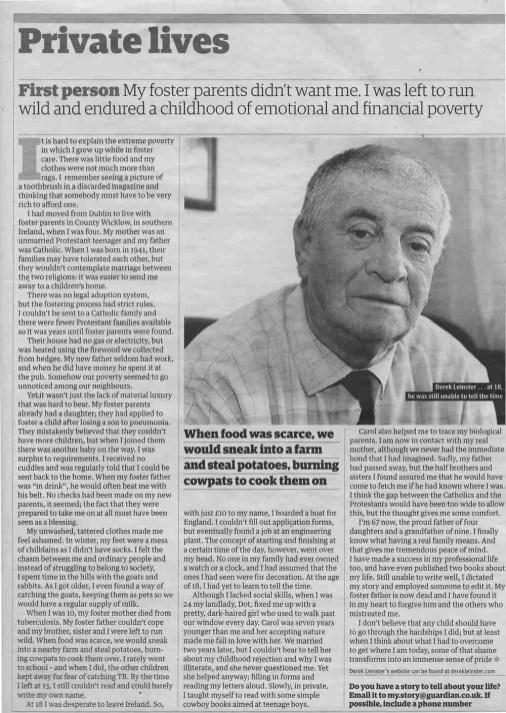 Derek's story - The Guardian