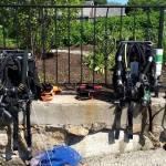 rEvo rebreathers at Old Garden Beach