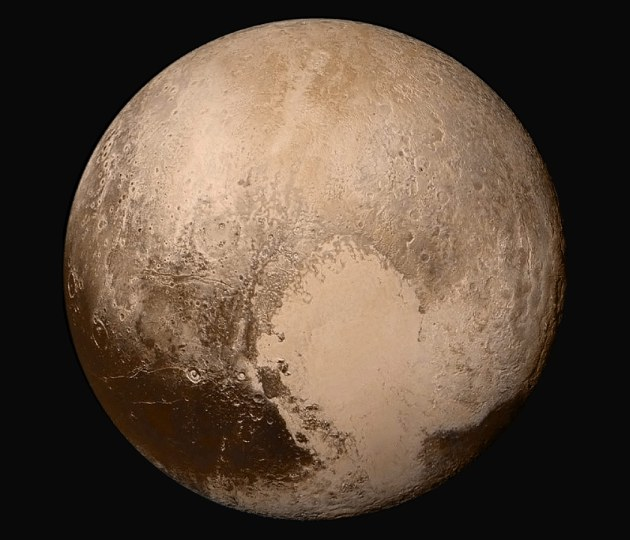 Pluto, photographed by NASA's New Horizons probe