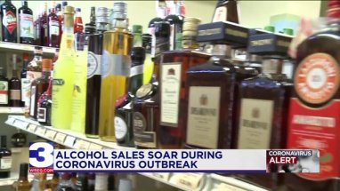 Alcohol sales up amid coronavirus pandemic