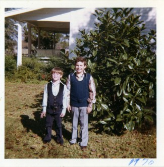 Marcus and Scott Dickson, Easter 1970