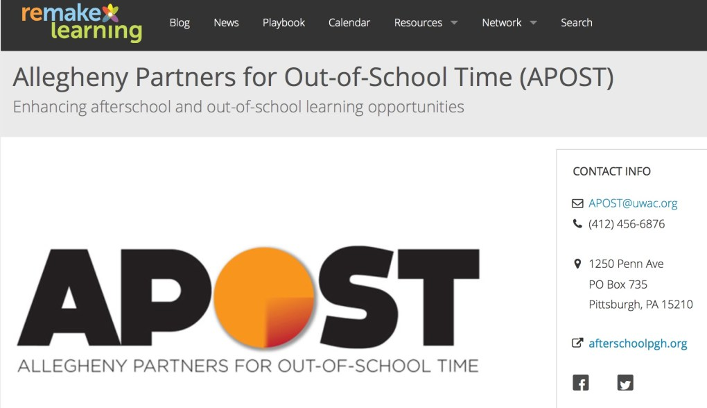 Allegheny Partners for Out of School Time