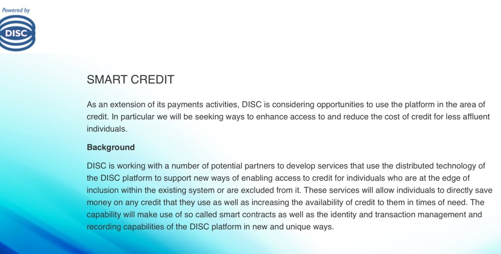 DISC Holdings credit