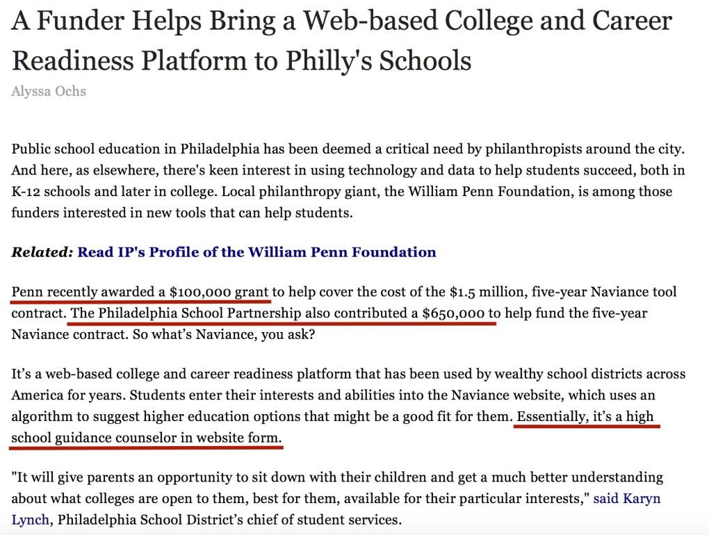 Naviance William Penn Foundation