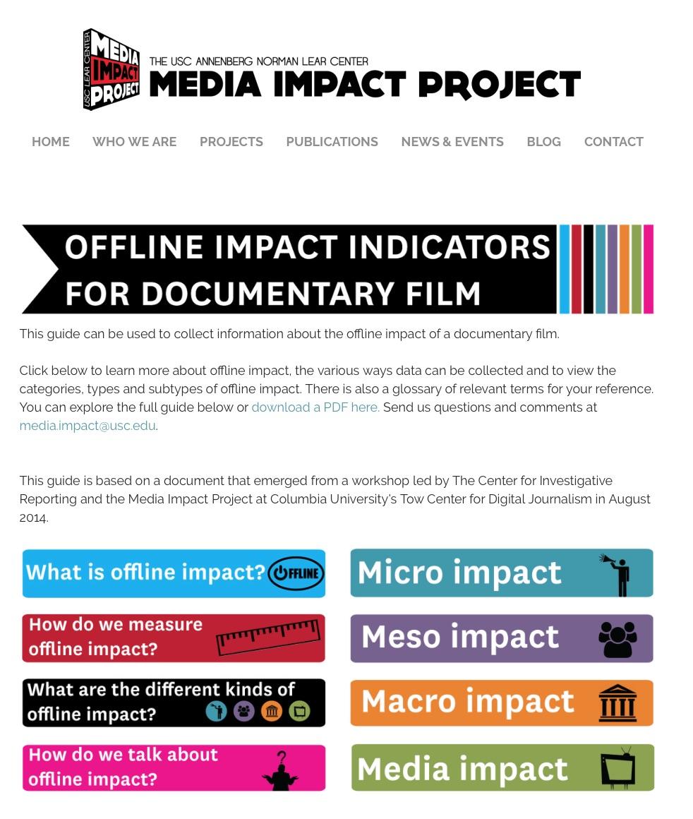 USC Media Impact Project