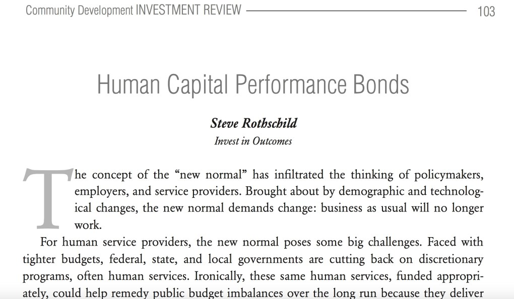 human capital peformance bonds