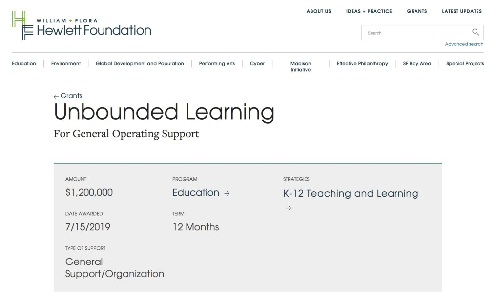 HP Unbounded Learning 2019