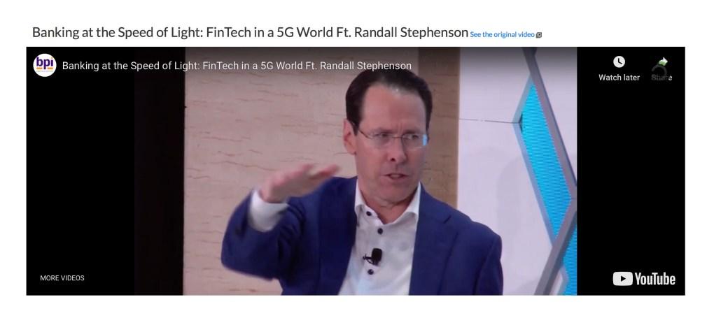 AT&T 5G Randall Stephenson