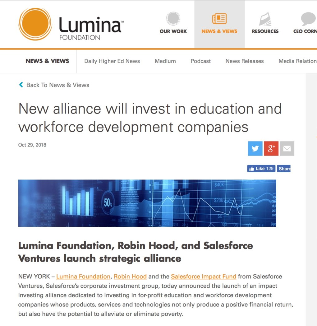 Lumina Salesforce Robin Hood Workforce
