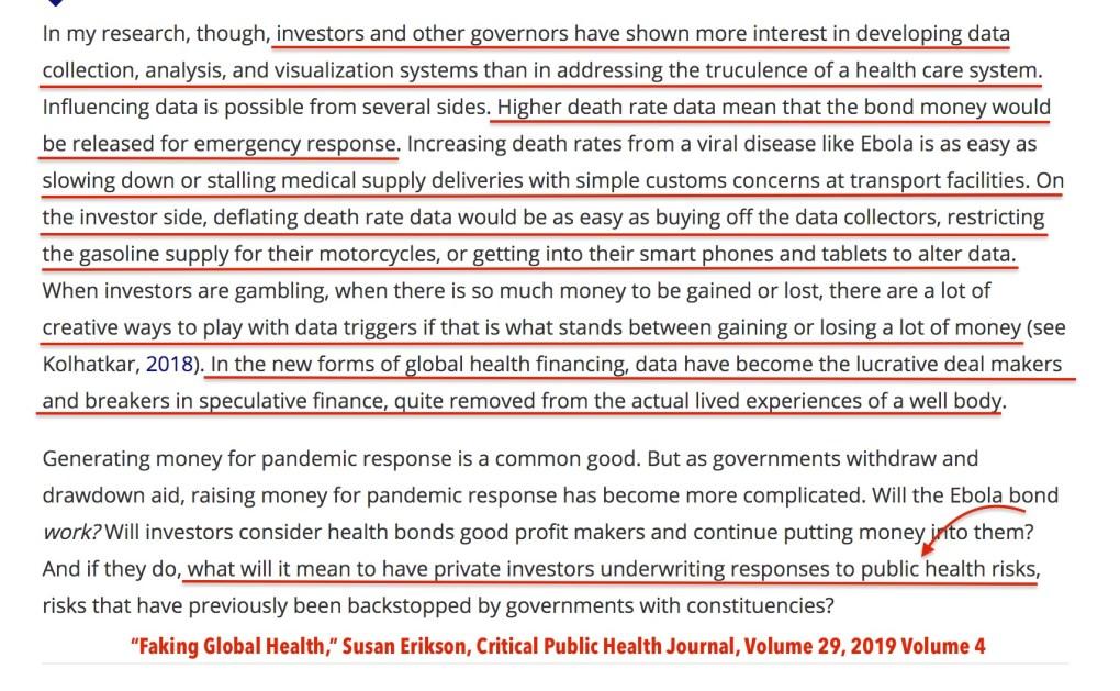 Faking Public Health