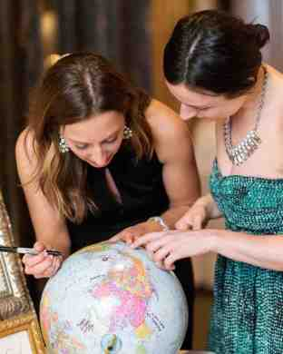 4. Martha Stewart globe signing